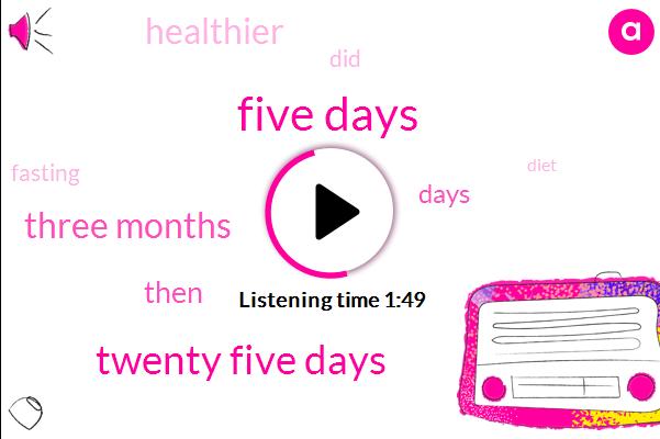 Five Days,Twenty Five Days,Three Months