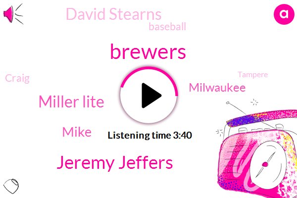Brewers,Jeremy Jeffers,Miller Lite,Mike,Milwaukee,David Stearns,Baseball,Craig,Tampere,BOB,President Trump,Wade Miley,Doug,Matlock,Jimmy Nelson,Zach Davies,Chris Anderson,West Chester,Diaz Rostker