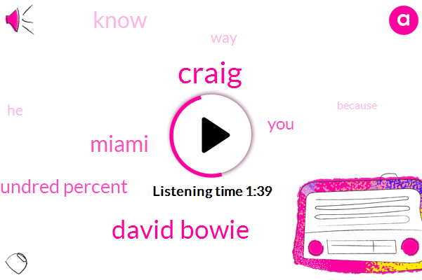 Craig,David Bowie,Miami,One Hundred Percent