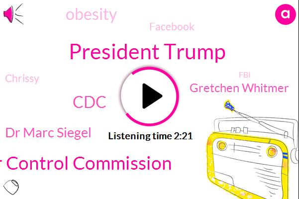 President Trump,Ohio Liquor Control Commission,CDC,Dr Marc Siegel,ABC,Gretchen Whitmer,Obesity,Facebook,Chrissy,FBI,Michigan,White House,Ohio,Johnson,Fox News