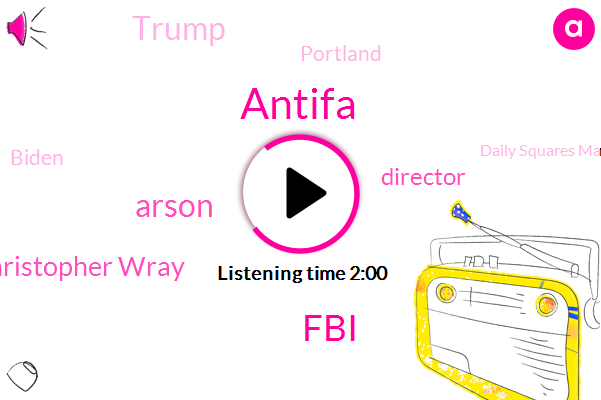 Antifa,FBI,Arson,Christopher Wray,Director,Portland,Donald Trump,Biden,Daily Squares Maya,Lee Rush,Baseball,Steve Garvey,Beytin,Oregon,Roland,Stevie,Washington,Seattle