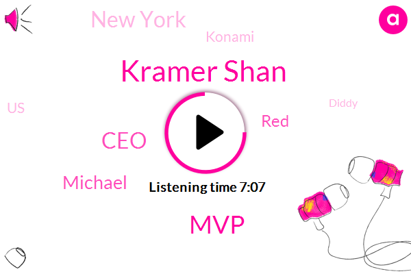 Kramer Shan,MVP,CEO,Michael,RED,New York,Konami,United States,Diddy,Fiduciary,Israel,Phil,Donald Trump,One Hundred Thirty Three Dollars,One Two Three Four Six Days