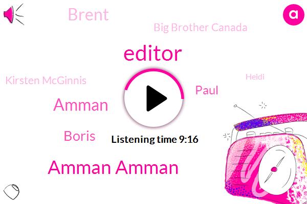 Editor,Amman Amman,Amman,Boris,Paul,Brent,Big Brother Canada,Kirsten Mcginnis,Heidi,Cherry Pie,Bethany,LO,Terry Mizzou,Tiffany,Janet,Nicole Shea