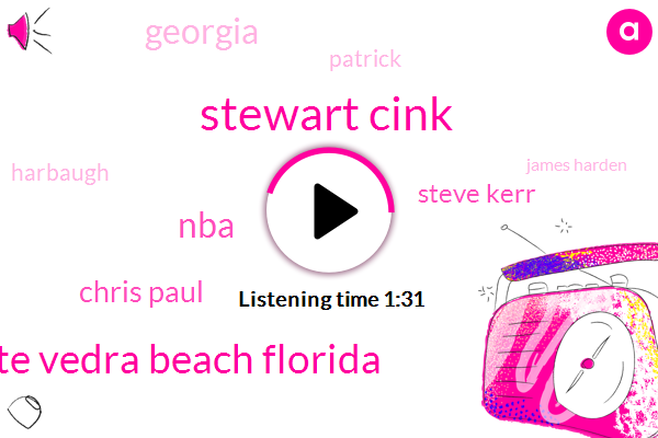 Stewart Cink,Ponte Vedra Beach Florida,NBA,Chris Paul,Steve Kerr,Georgia,Patrick,Harbaugh,James Harden,NFL