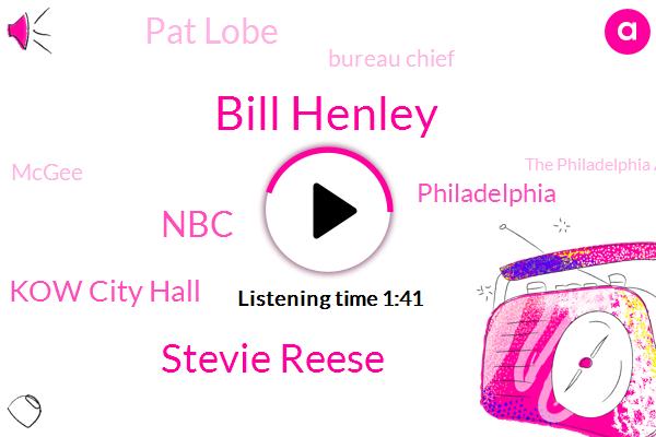 Bill Henley,Stevie Reese,NBC,Kow City Hall,Philadelphia,Pat Lobe,Bureau Chief,Mcgee,The Philadelphia Art Commission,Marconi Plaza,Christopher Columbus
