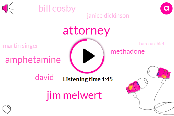Attorney,Jim Melwert,Amphetamine,David,Methadone,Bill Cosby,Janice Dickinson,Martin Singer,Bureau Chief,Samantha Jones,Methamphetamine,Louis Pacifica,Jim Melwork,JIM,Thirty Year,Milk