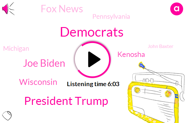 Democrats,President Trump,Joe Biden,Wisconsin,Kenosha,Fox News,Pennsylvania,Michigan,FOX,John Baxter,Liz Peak,New York,Joe Vine,Montgomery County,Liz Peek,Philadelphia,Jerry Nadler,Iowa,Whole