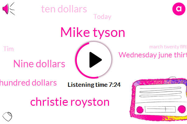 Mike Tyson,Christie Royston,Nine Dollars,Two Hundred Dollars,Wednesday June Thirtieth,Ten Dollars,TIM,Today,March Twenty Fifth,Monday,Forty-One-Year-Old,Michelle,Last Year,July Tenth Eleventh,Michigan,Lawrenceville,Twenty Sixteen,Ten Thousand Dollars,Last December