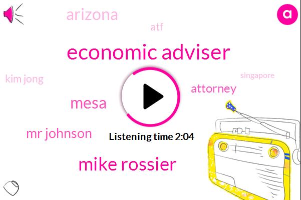Economic Adviser,AP,Mike Rossier,Mesa,Mr Johnson,Attorney,Arizona,ATF,Kim Jong,Singapore,Mike Pompeo,Colorado,Facebook,Benjamin Taylor,Robert Johnson,Gary Indiana