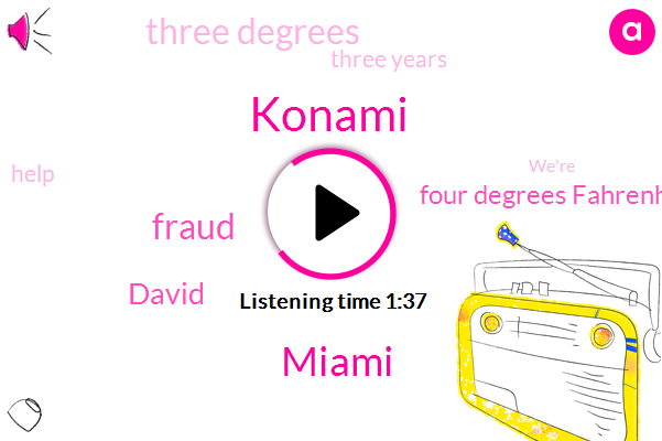 Konami,Miami,Fraud,David,Four Degrees Fahrenheit,Three Degrees,Three Years