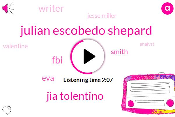 Julian Escobedo Shepard,Jia Tolentino,FBI,EVA,Smith,Writer,Jesse Miller,Valentine,Analyst,Eight Months