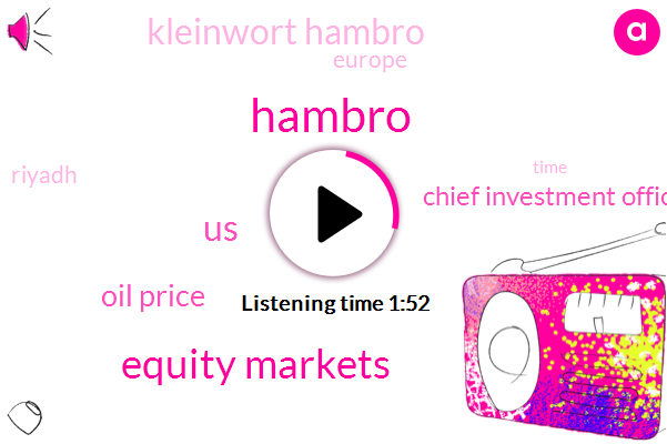 Hambro,Equity Markets,United States,Oil Price,Chief Investment Officer,Kleinwort Hambro,Europe,Riyadh