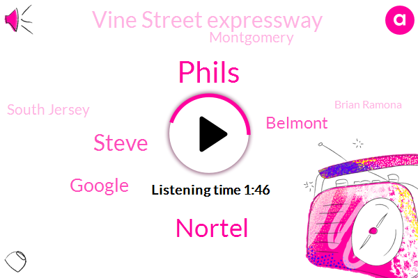 Phils,Nortel,Steve,Google,Belmont,Vine Street Expressway,Montgomery,South Jersey,Brian Ramona,Philly,Mike,Jean I,Martin Luther,Twenty Four Hour