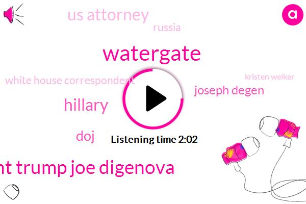 Watergate,President Trump Joe Digenova,Hillary,DOJ,Joseph Degen,Us Attorney,Russia,White House Correspondent,Kristen Welker,NBC,John Dowd,Bill Clinton,Wall Street Journal,Washington,FBI,Donald Trump,Halley Jackson,Special Counsel,President Trump
