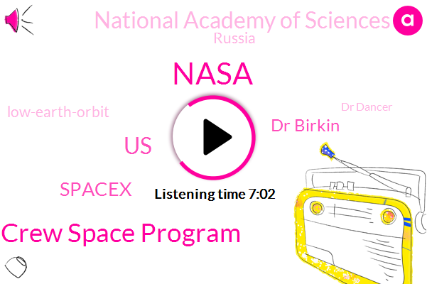 Nasa,Commercial Crew Space Program,United States,Spacex,Dr Birkin,National Academy Of Sciences,Russia,Low-Earth-Orbit,Dr Dancer,Tapper,John,Larry Page,Francis Murphy,Jake,Malibu,Maine,Texas,River Kazeem