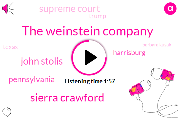 The Weinstein Company,Sierra Crawford,John Stolis,Pennsylvania,Harrisburg,Supreme Court,Donald Trump,Texas,Barbara Kusak,Stalking,President Trump,Austin,Dell,Dr Jonathan Greenburg