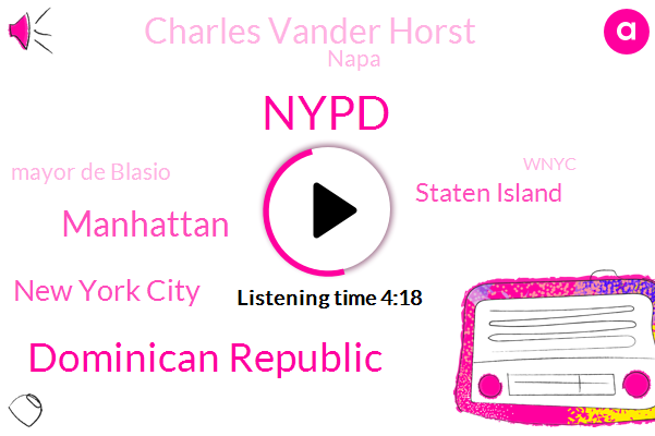 Nypd,Dominican Republic,Manhattan,New York City,Staten Island,Charles Vander Horst,Napa,Mayor De Blasio,Wnyc,North Carolina,Ministry Of Tourism,George Washington Bridge,Kevin Ring,Mayor De Blasios,Wilcox,Commissioner James O'neill,England,Cheryl Mac,Wcbs