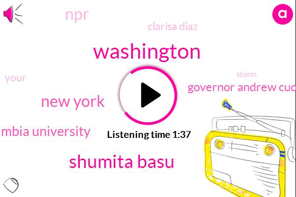 Washington,Shumita Basu,New York,Wnyc,Columbia University,Governor Andrew Cuomo,NPR,Clarisa Diaz