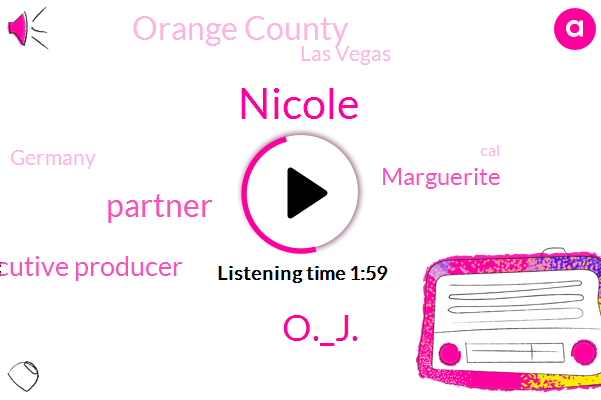 Nicole,O._J.,Partner,Executive Producer,Marguerite,Orange County,Las Vegas,Germany,CAL,Hollywood,Official,Twelve Years