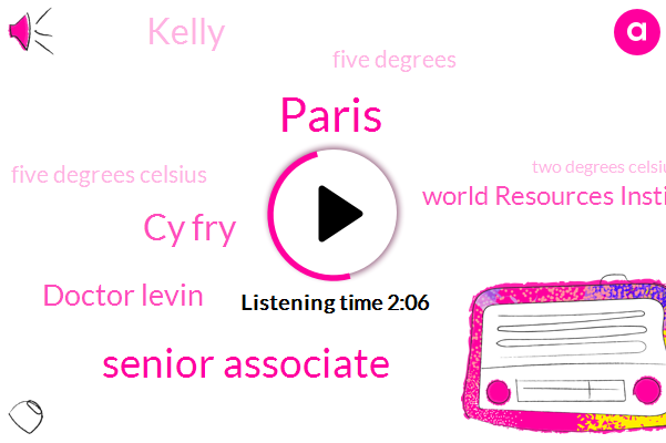Paris,Senior Associate,Cy Fry,Doctor Levin,World Resources Institute,Kelly,Five Degrees,Five Degrees Celsius,Two Degrees Celsius,Five Degree,Three Years,Two Degrees,Two Degree