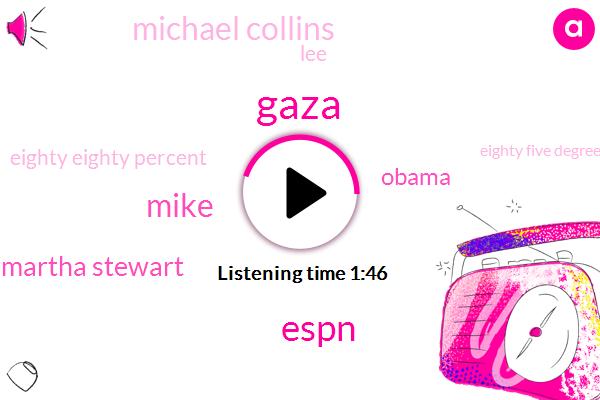 Gaza,Espn,Mike,Martha Stewart,Barack Obama,Michael Collins,LEE,Eighty Eighty Percent,Eighty Five Degrees