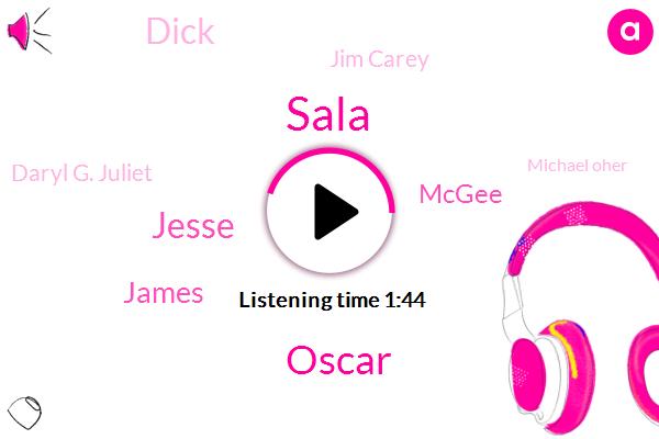 Sala,Oscar,Jesse,James,Mcgee,Dick,Jim Carey,Daryl G. Juliet,Michael Oher,Matt Glover