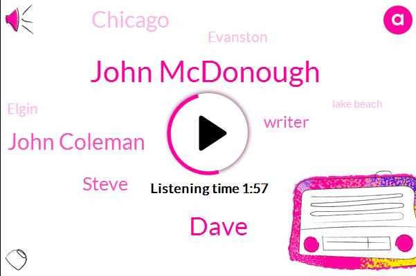 John Mcdonough,Dave,John Coleman,Steve,Writer,Chicago,Evanston,Elgin,Lake Beach,Morris,Bensenville Bridge,Addison,Wisconsin,Illinois,Official