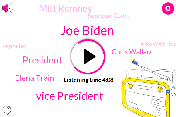 Joe Biden,Vice President,Elena Train,President Trump,Chris Wallace,Mitt Romney,Supreme Court,Reporter,Axios White House,Judge Amy Cockney Barrett,Cleveland,Fox News,Barack Obama,White House,DIO