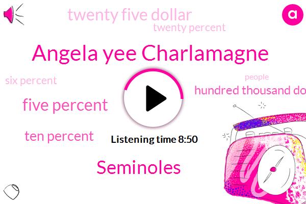 Angela Yee Charlamagne,Seminoles,Five Percent,Ten Percent,Hundred Thousand Dollars,Twenty Five Dollar,Twenty Percent,Six Percent,Twenty Eight Hundred Dollars,Eighty Five Hundred Dollars,Thirty Five Hundred Dollars,Hundred Thousand Dollar,Five Thousand Dollars,Five Thousand Dollar,Ten Thousand Dollars,Twenty Five Dollars,Thousand Dollars,One One Dollar,Thirty Percent