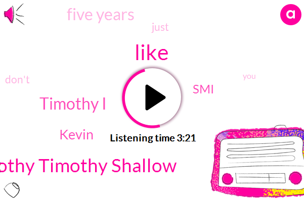 Timothy Timothy Shallow,Timothy I,Kevin,SMI,Five Years