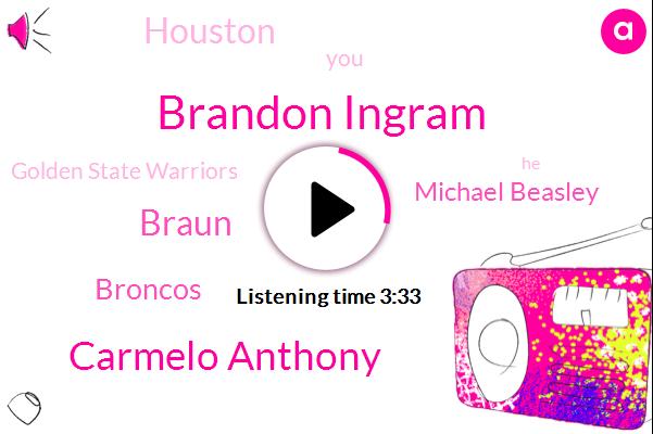 Brandon Ingram,Carmelo Anthony,Braun,Broncos,Michael Beasley,Houston,Golden State Warriors,Brennan,Brian,Basketball,Los Angeles,Camilla,Rockets,Three Quarters