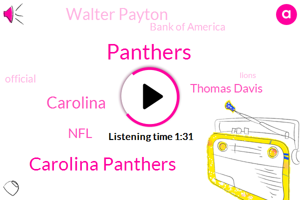 Carolina Panthers,Panthers,Thomas Davis,NFL,Walter Payton,Carolina,Bank Of America,Official,Lions