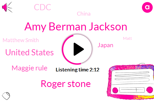 Amy Berman Jackson,Roger Stone,United States,Maggie Rule,Japan,CDC,China,Matthew Smith,Matt,South Dakota,FLU,Witness Tampering,ABC,Sacramento,Wallace