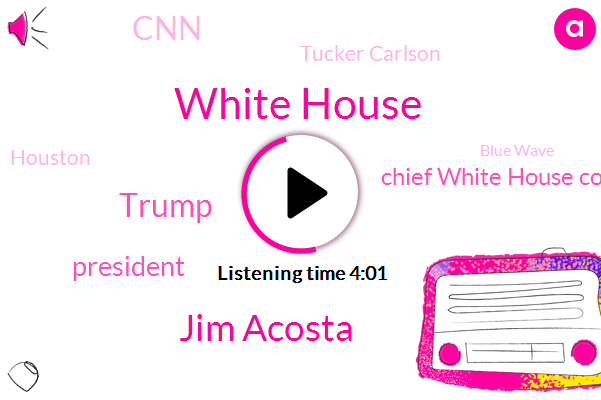 White House,Jim Acosta,Donald Trump,President Trump,Chief White House Correspondent,CNN,Tucker Carlson,Houston,Blue Wave,Sam Donaldson,Editor,Reporter,Partner,ABC,Notre,New York Times,Mexico,GOP