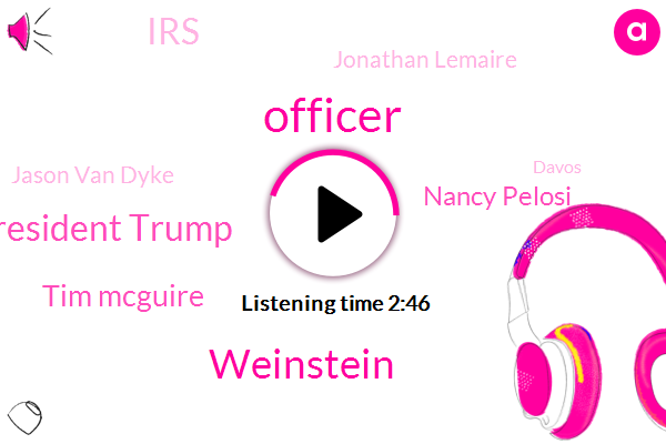 Officer,Weinstein,President Trump,Tim Mcguire,Nancy Pelosi,IRS,Jonathan Lemaire,Jason Van Dyke,Davos,Afghanistan,Martin Hunter Mcdonald,Warren Levinson,Switzerland,Liqun Mcdonald,Dominique Strauss-Kahn,AP,Shannon Ls,Casey Tv