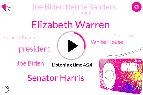 Elizabeth Warren,Senator Harris,Joe Biden,President Trump,White House,Joe Biden Bernie Sanders,Berkeley,Barack Obama,Phil Matere,Attorney,Bernie Sanders,Richard Stevenson,Stan,Kcbs,Fire Department,Yulia,Larry King,Nerve Agent,Romney