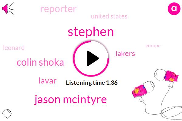 Stephen,Jason Mcintyre,Colin Shoka,Lavar,Lakers,Reporter,United States,Leonard,Europe,La Times