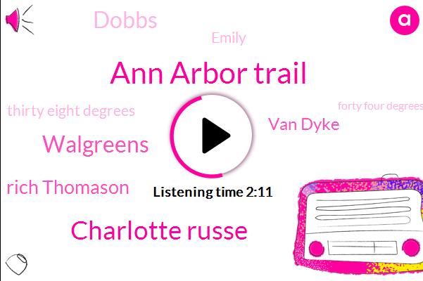 Ann Arbor Trail,Charlotte Russe,Walgreens,Rich Thomason,Van Dyke,Dobbs,Emily,Thirty Eight Degrees,Forty Four Degrees