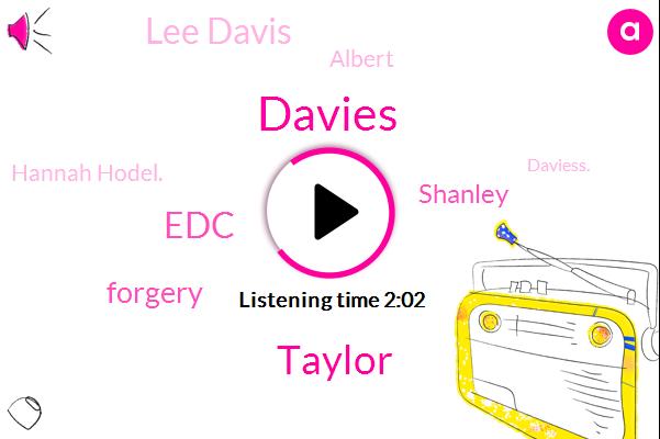 Davies,Taylor,EDC,Forgery,Shanley,Lee Davis,Albert,Hannah Hodel.,Daviess.,Solberg.,Kinsey Langley.,Cooper.,Hill.,Stanley.
