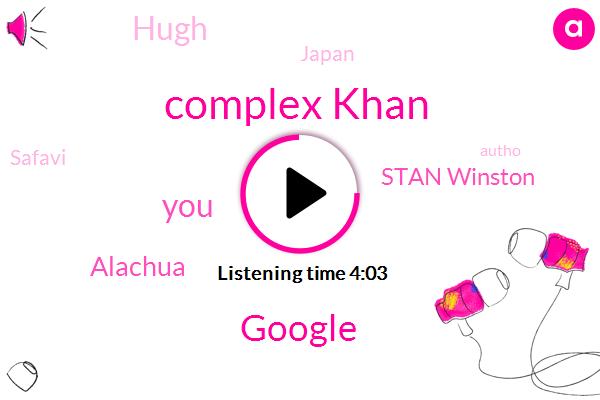 Complex Khan,Google,Alachua,Stan Winston,Hugh,Japan,Safavi,Autho,Eugene,Hundred Percent,Ten Foot
