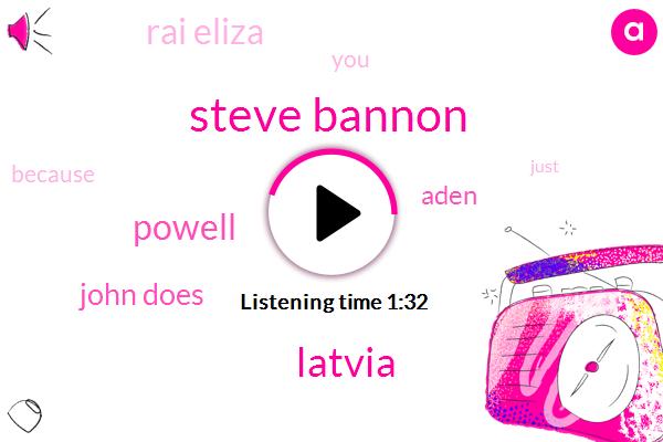 Steve Bannon,Latvia,Powell,John Does,Aden,Rai Eliza