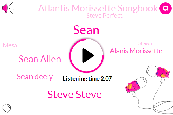 Sean,Steve Steve,Sean Allen,Sean Deely,Alanis Morissette,Atlantis Morissette Songbook,Steve Perfect,Mesa,Mason,Shawn,Soto
