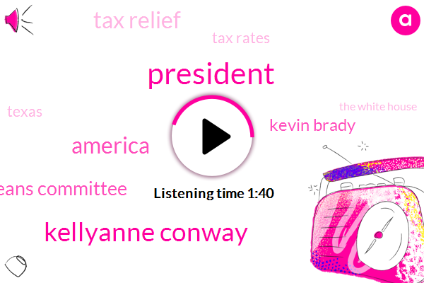 President Trump,Kellyanne Conway,America,House Ways And Means Committee,Kevin Brady,Tax Relief,Tax Rates,Texas,The White House