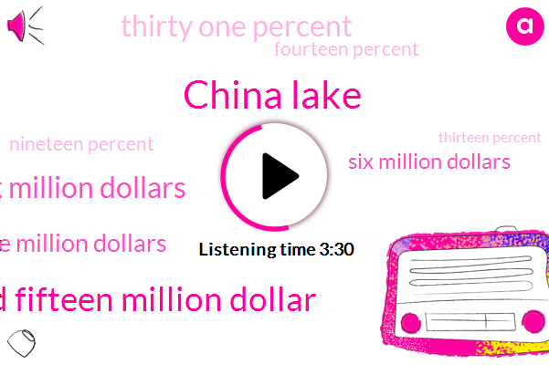 China Lake,Two Hundred Fifteen Million Dollar,Ninety Eight Million Dollars,One Million Dollars,Six Million Dollars,Thirty One Percent,Fourteen Percent,Nineteen Percent,Thirteen Percent,Million Dollars,Forty Years,One K