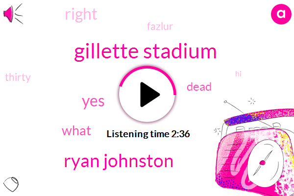 Gillette Stadium,Ryan Johnston