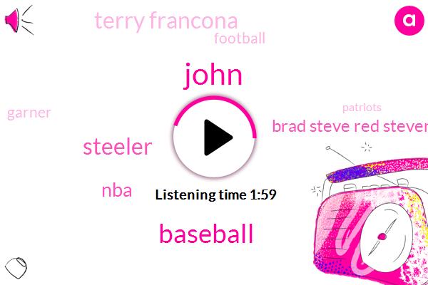 John,Steeler,Baseball,NBA,Brad Steve Red Stevens,Terry Francona,Garner,Football,Patriots,Bill Chela,Steve Kerr,Gregg Popovich,Boston,Larry Lucchino,Washington,Five Minutes
