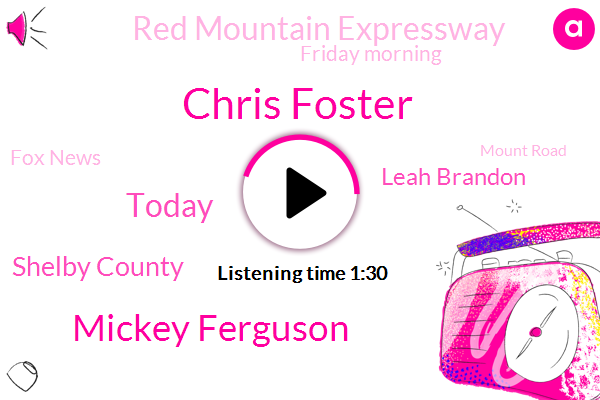 Chris Foster,Mickey Ferguson,Today,Shelby County,Leah Brandon,Red Mountain Expressway,Friday Morning,Fox News,Mount Road,2059,F 00 D 2 32 32 32,This Morning,2 32 32 32,Alabama,This Friday Morning,6 40,Captain,I 65,65