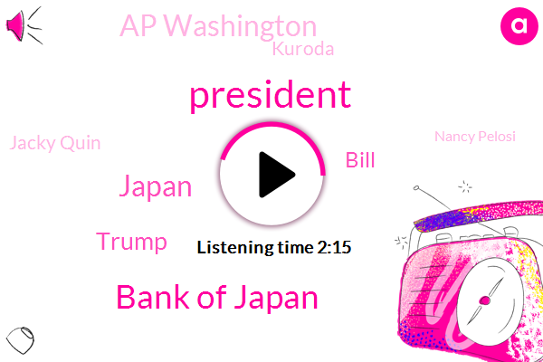 President Trump,Bank Of Japan,Japan,Donald Trump,Bill,Ap Washington,Kuroda,Jacky Quin,Nancy Pelosi,Jackie Quinn,Syracuse University,White House,Hans Meyer,Denver,Attorney,Three Weeks