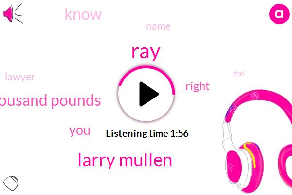 RAY,Larry Mullen,Twenty Thousand Pounds