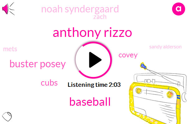 Anthony Rizzo,Baseball,Buster Posey,Cubs,Covey,Noah Syndergaard,Zach,Mets,Sandy Alderson,Diaz,Richard,Todd Frazier,Garas Travis,Aj Romo,General Manager,Ten Day